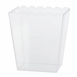 Scalloped Container Medium Plastic