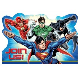 Justice League Invitations Join Us & Envelopes