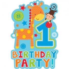 One Wild Boy Invitations 1st Birthday Party!