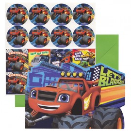 Blaze & The Monster Machines Invitations