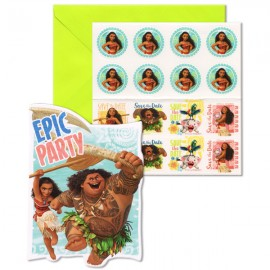 Moana Epic Party Invitations & Envelopes