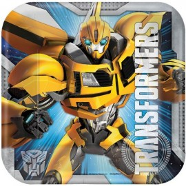 Transformers Luncheon Plates Square