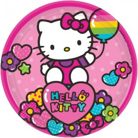 Hello Kitty Rainbow Luncheon Plates Paper