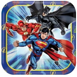 Justice League Luncheon Plates Square