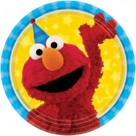 Sesame Street Luncheon Plates Elmo & Cookie Monster