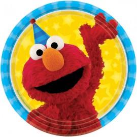 Sesame Street Luncheon Plates Elmo & Cookie Monster