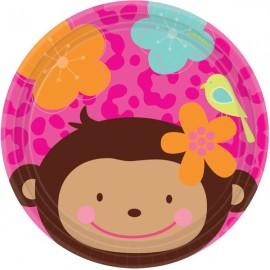 Monkey Love Luncheon Plates