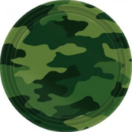 Camouflage Luncheon Plates Paper