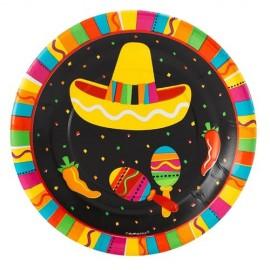 Plates Fiesta Fun, 17.7cm Luncheon Size