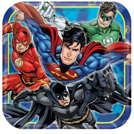 Justice League Dinner Plates Square