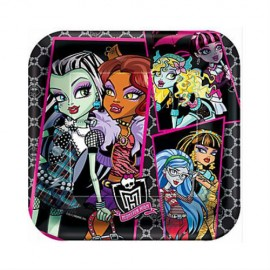 Monster High Dinner Plates Square 23cm