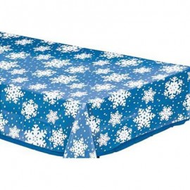 Tablecover Snowflakes Clear