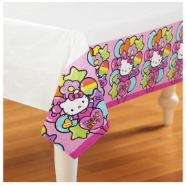 Hello Kitty Rainbow Tablecover Plastic