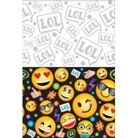 LOL Emoji Tablecover Plastic Smiley Faces