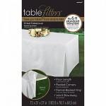Tablecover White Tablefitter Flannel Backed Vinyl