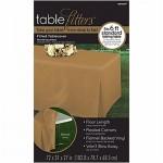 Tablecover Gold Tablefitter Flannel Backed Vinyl