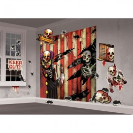 Creepy Carnival Scene Setter Wall Decorating Kit