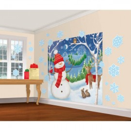 Winter Friends Wall Decorating Kit, Mega Value (Plastic)