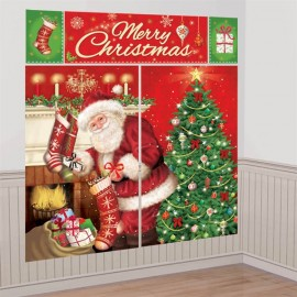 Magical Christmas Scene Setter Wall Decorating Kit