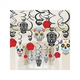 Hanging Decorations Swirls Skulls Mega Value Pack