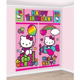 Hello Kitty Rainbow Scene Setter Wall Dec Kit