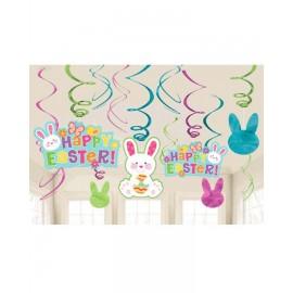 Happy Easter Hanging Swirls