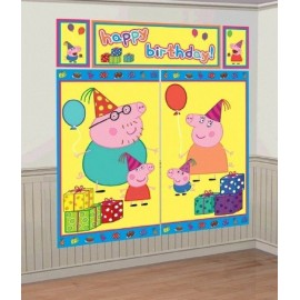 Peppa Pig Scene Setter Happy Birthday