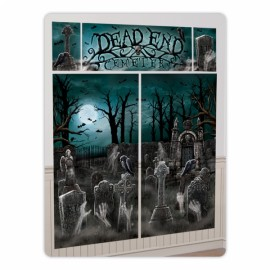 Cemetery Wall Scene Setter Decorating Kit