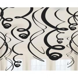 Hanging Swirls Decoration Black