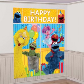 Sesame Street Scene Setter Happy Birthday