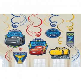 Cars 3 Hanging Swirls Decorations Value Pack