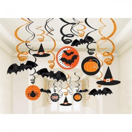 Hanging Swirls Decorations Halloween Value Pack