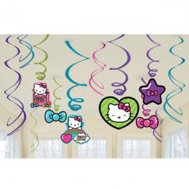 Hello Kitty Rainbow Hanging Swirls