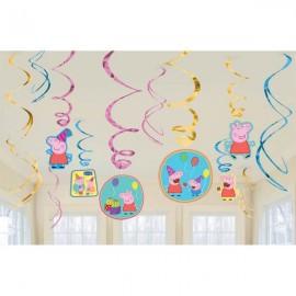 Peppa Pig Hanging Swirls & Cutouts