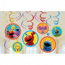 Sesame Street Hanging Swirls Decorations Value Pack