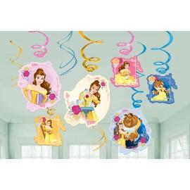 Beauty & The Beast Hanging Swirls Decorations