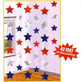 Hanging Stars String Decorations Patriotic