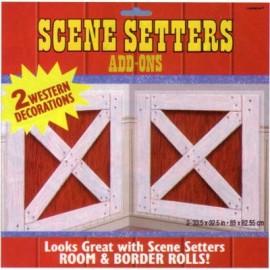 Scene Setter Cutout Barn Shutters