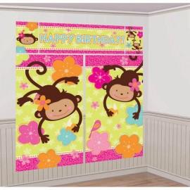 Monkey Love Scene Setter Kit Happy Birthday