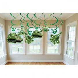 Camouflage Hanging Decoration Swirls