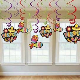 Hanging Decoration Swirls Fiesta Value Pack
