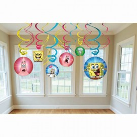SpongeBob Squarepants Hanging Swirl Decorations,