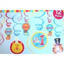 Fisher Price 1st Birthday Hanging Decoration Swirls,
