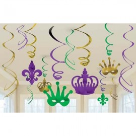 Swirls Mardi Gras Value Pack Foil