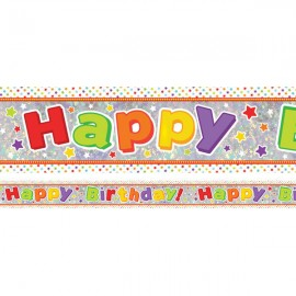 Banner Happy Birthday Kids Design Foil