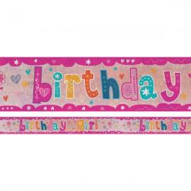 Banner Birthday Girl Foil