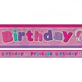 Banner Birthday Princess Foil