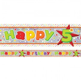 Banner Happy 5th Birthday Foil