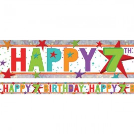 Banner Happy 7th Birthday Foil