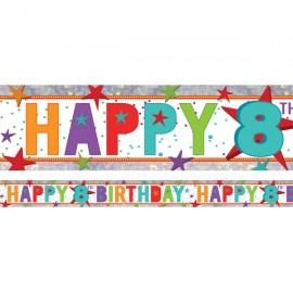 Banner Happy 8th Birthday Foil